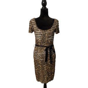 Betsey Johnson Leopard Print Bodycon Dress